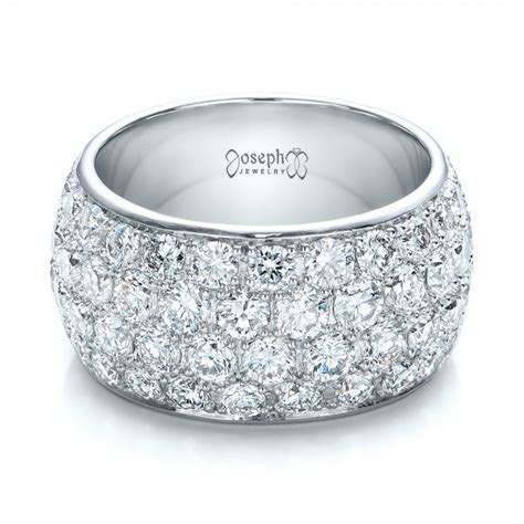 Custom Pave Diamond Wedding Ring #100875   Seattle