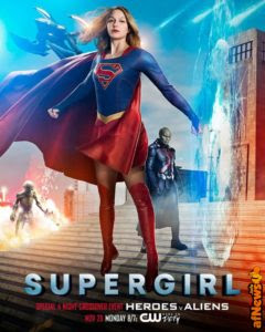 Supergirl cross over: il poster