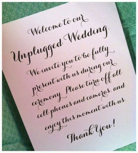 Wediquette and Parties: Unplugged Weddings