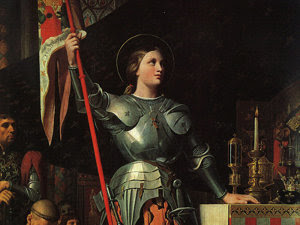 Ioana d'Arc - detaliu pictură: Încoronarea regelui Carol al VII - Dominique Ingres (Imagine: Wikipedia)