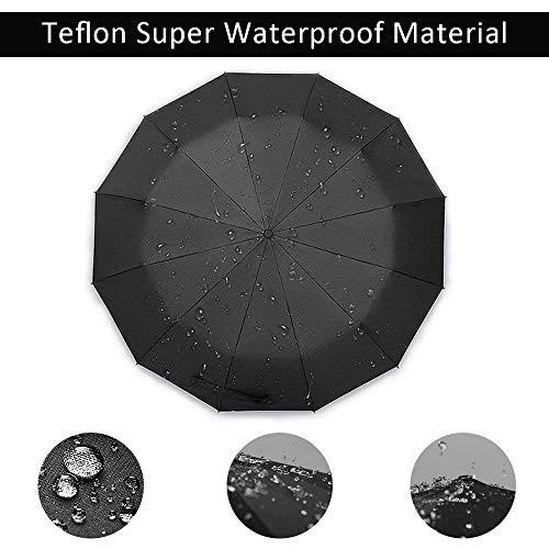 Regenschirm Taschenschirm Automatik Motiv Skull Totenkopf Schwarz Gothic