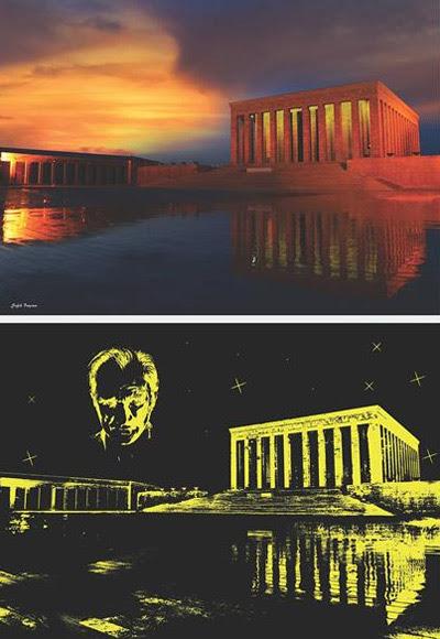 Anatolian Puzzle 1000 Parça Glow In Dark Anıtkabir Neon 1901