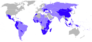 Legend: Orange - Countries in which the Peace ...