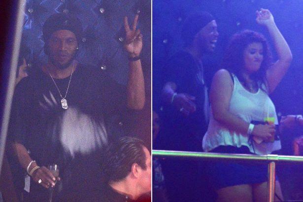 Ronaldinho partying in Cancun