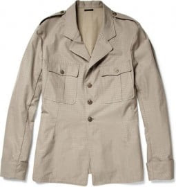 Alexander Mcqueen Half-lined Cotton Safari Jacket