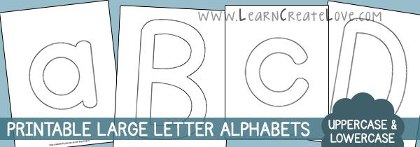 Printable Letters & Numbers