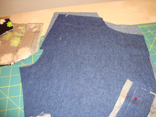 cut out and ready to sew my first jeans!