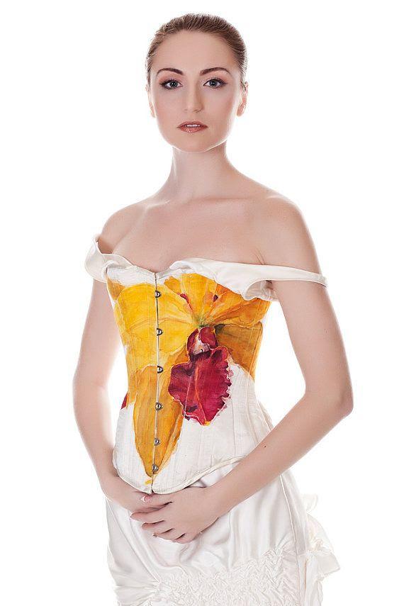 Hand painted corset / dress