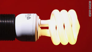 Switching to more efficient compact fluorescent bulbs can result in energy savings and lower green house gas emissions.
