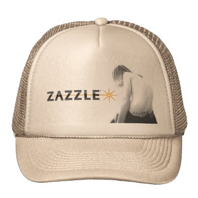 Zazzle Tattoo Hat by glomboi. Person with Zazzle tattoo.