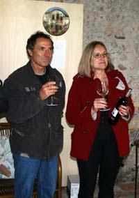Paola Ferrin con Alberto Finco uno dei premiati leggera