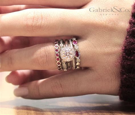 Ring around the rubies! Enhance your engagement ring and