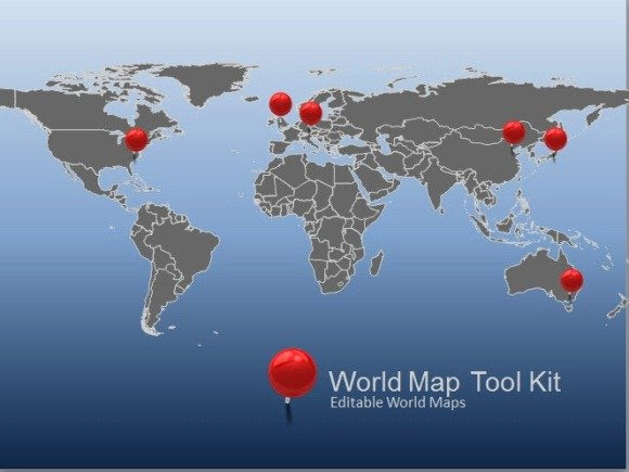 Animated World Map Toolkit For PowerPoint