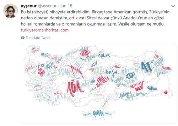 Ayşenur Göğebakan Türkiyenin Ilk Interaktif Roman Haritasını