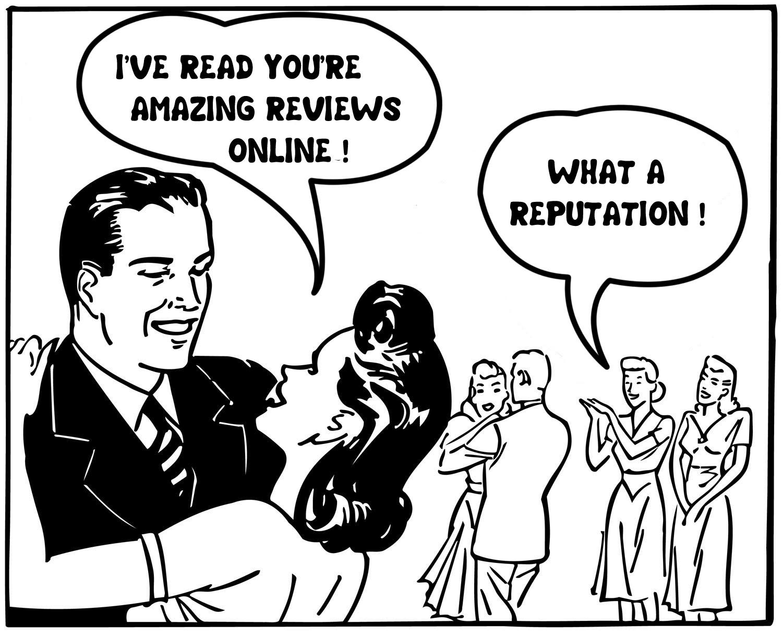 Image result for online reputation cartoon