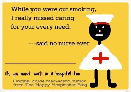 Missed caring for your every smoker's need ecard humor photo