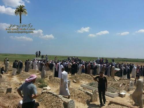 دفن شهداء الحويجة