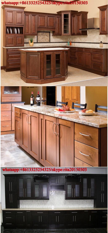 2017 Hot Sale Self Assemble Birch Solid Wood Kitchen ...