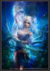 Artemis (Diana) Greek Goddess - Art Picture by Kazuha Fukami