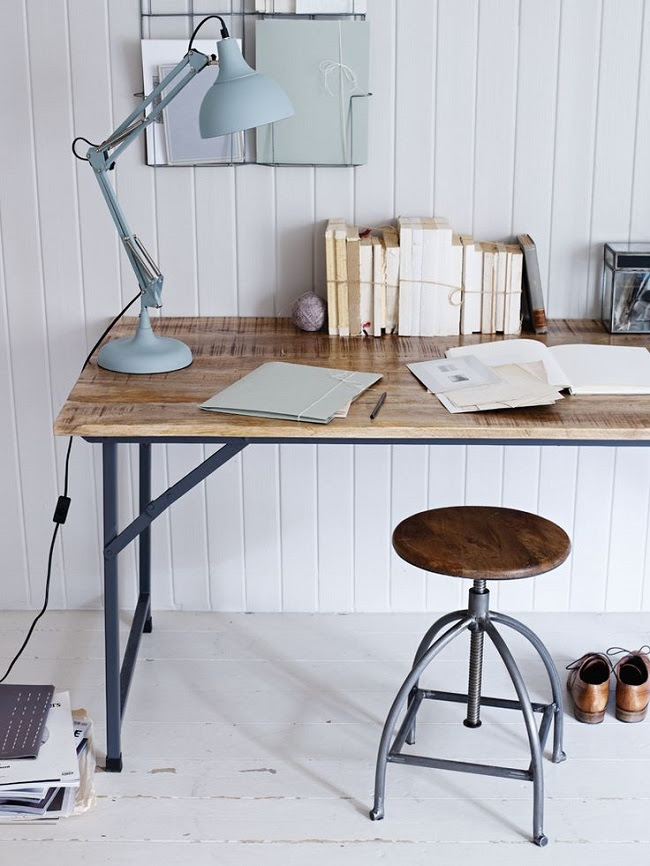 home office ideas fold away wood and metal desk