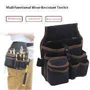 Cheap Urijk High Capacity Tool Bag Waist Pockets Electrician Tool Bag Oganizer Carrying Pouch Tools Bag Belt Waist Pocket Case