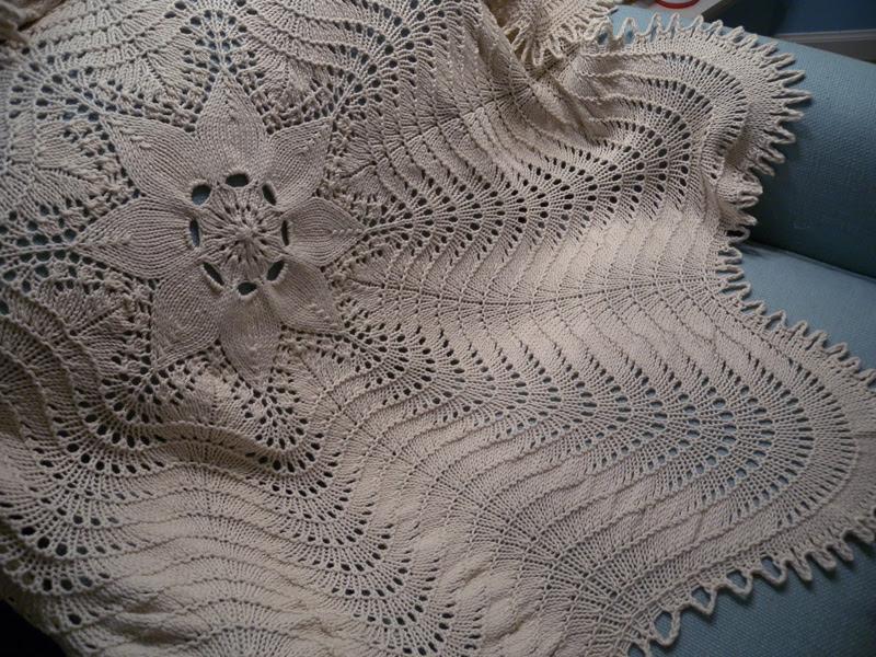 Hemlock Ring Blanket w/ garter ridges!