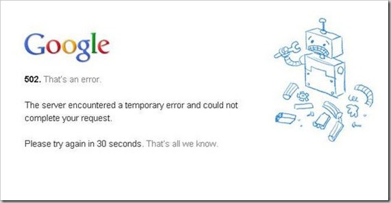 Google Down Global