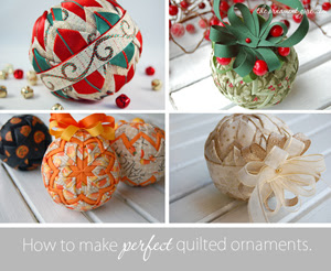 How to make perfect quilted ornaments.