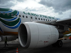Cebu Pacific Air A319 in Lumbia Airport Cagaya...