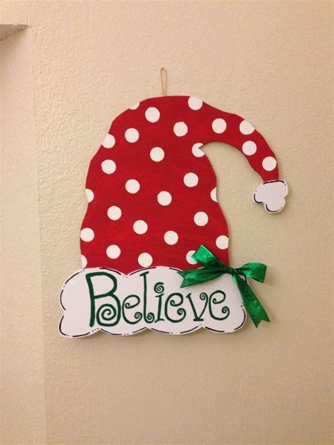 Christmas decoration door hanger. Made out of foam board