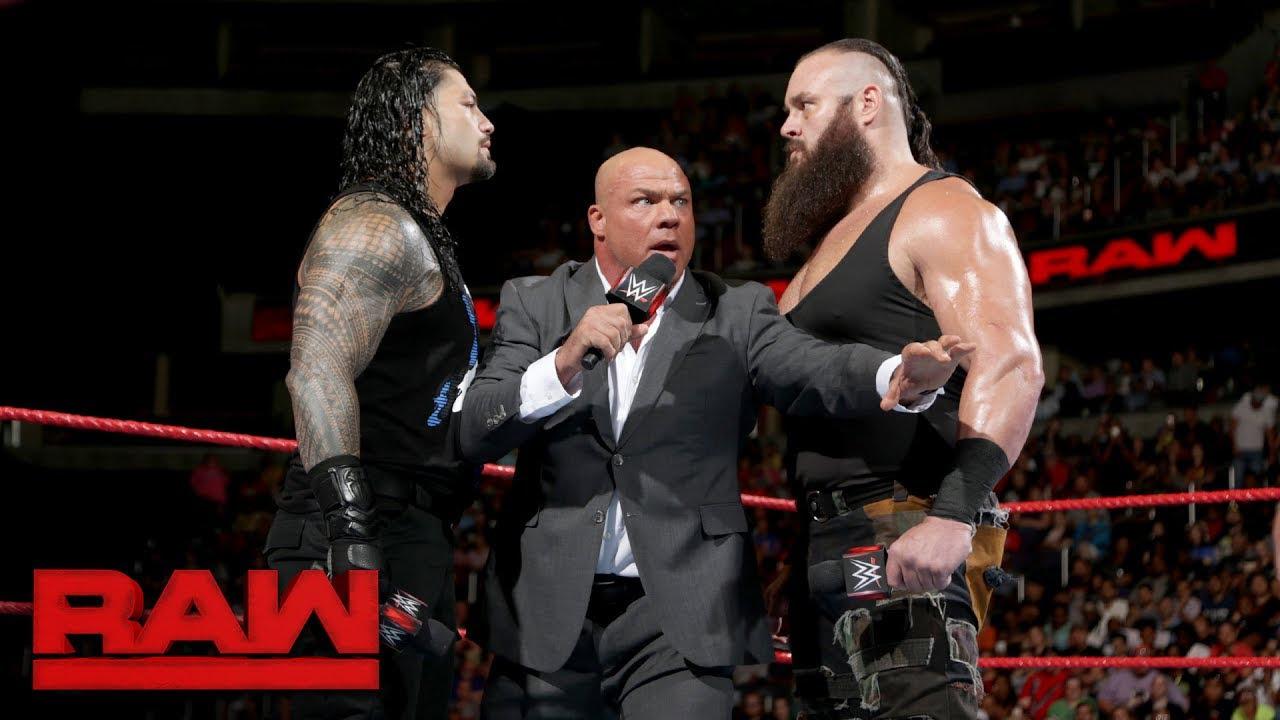 Brock Lesnar brawls with Samoa Joe: Raw, June 12, 2017 - Samoa Joe