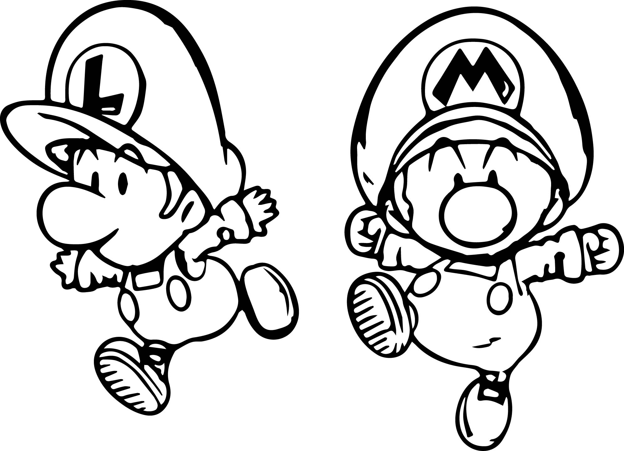 Coloriage Mini Luigi