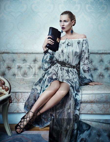 Kate Moss for Salvatore Ferragamo Fall 2012 Campaign
