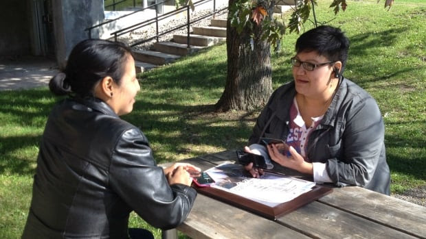 Leslie Parlane (left) and Colleen Cardinal are part of a group of aboriginal adoptees who are organizing a national gathering this weekend.