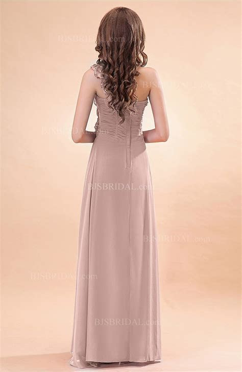 Dusty Rose Bridesmaid Dress   Modern A line One Shoulder