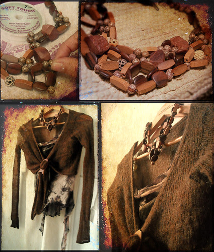 """""""Wooden Lace"""" Necklace"""