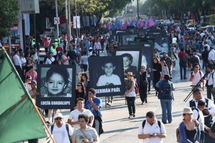 A cuatro años de la tragedia en la guardería ABC, familiares exigen justicia. Foto: Miguel Dimayuga