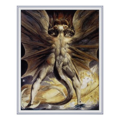 william blake dragon. William Blake Poster Print:
