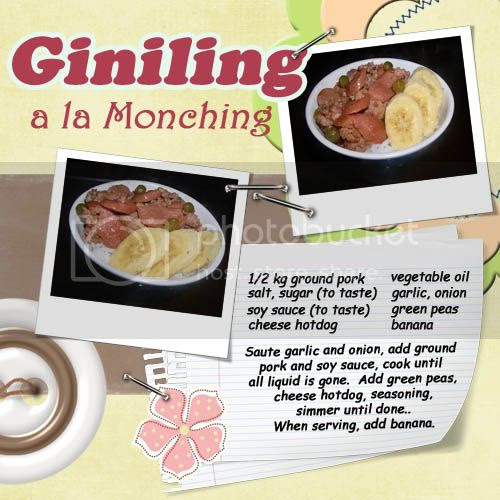 Giniling a la Monching Recipe