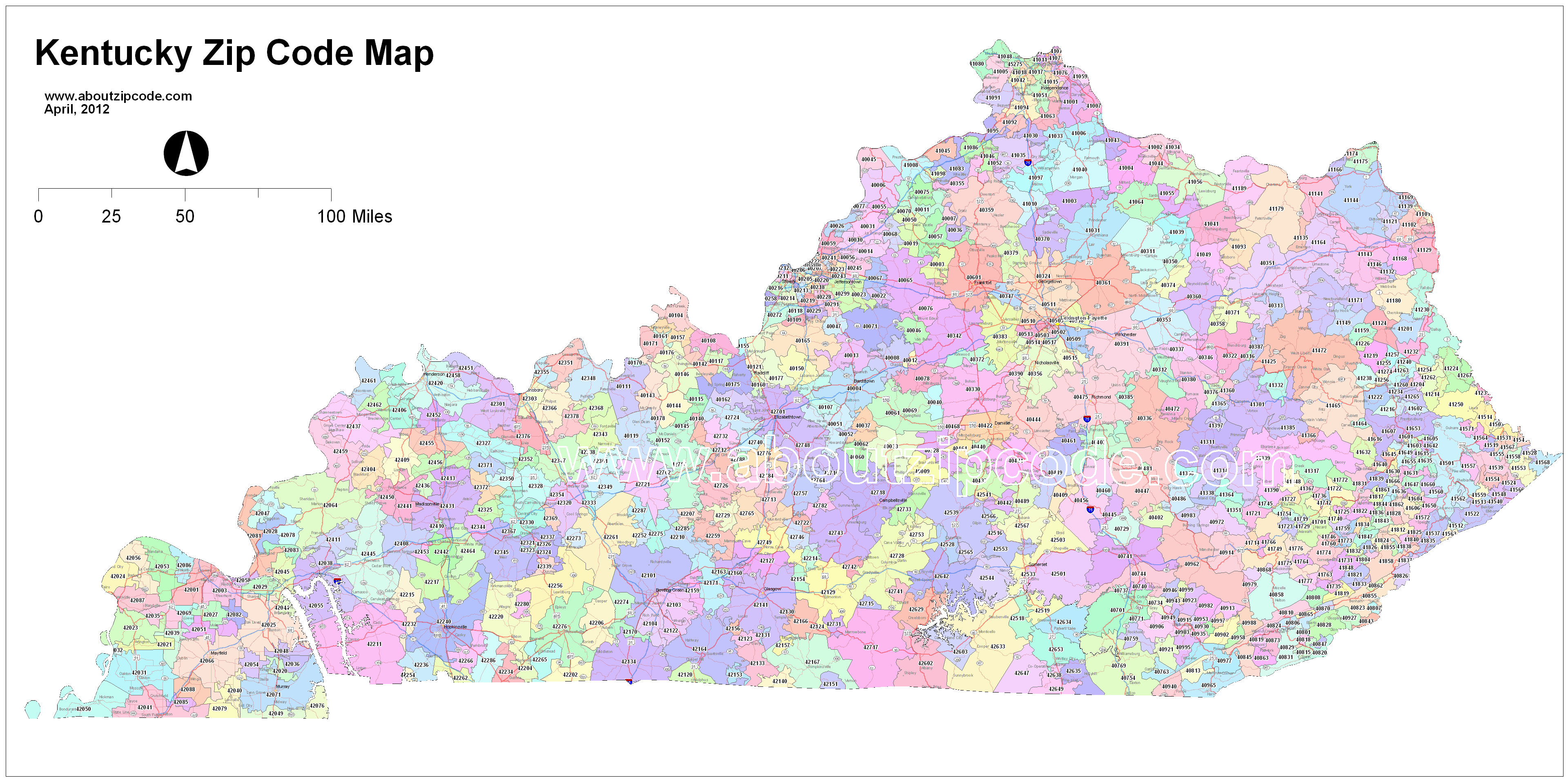Louisville Kentucky Zip Code Map Map Of Us Western States - Louisville-ky-us-map