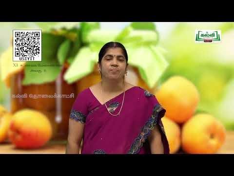 11th  Food management உணவு பதப்படுத்துதல்  அலகு 6  Part 1 Kalvi TV