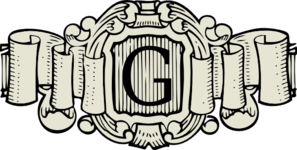G Monogram clip art
