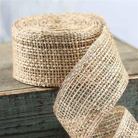 Natural Abaca Mesh Ribbon   Ribbon and Trims   Craft Supplies