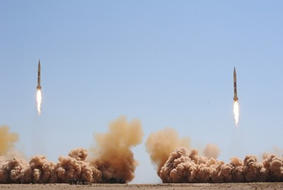 Syrian missile tests during early July 2012. The Middle Eastern nation has been the focus of a regime-change policy guided by the United States. by Pan-African News Wire File Photos