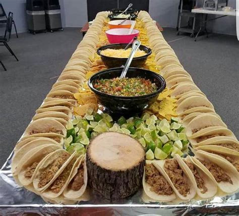Tacos display   Appetizers in 2019   Taco bar, Taco party