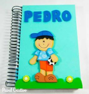 como fazer capa de caderno escolar menino menina eva (7)