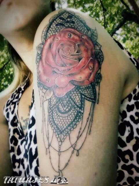 Rosa Con Gotas De Agua Tatuajes 123