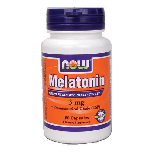 NOW Melatonin - 3 mg 60 capsules