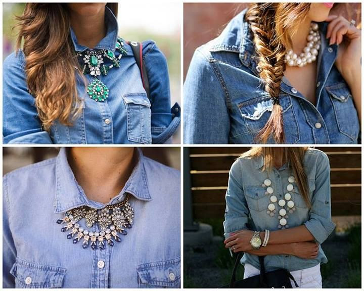 pure beauty #statement #jeans #shirt #necklace