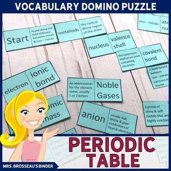 Periodic Table of Elements - Chemistry Terms Domino Puzzle